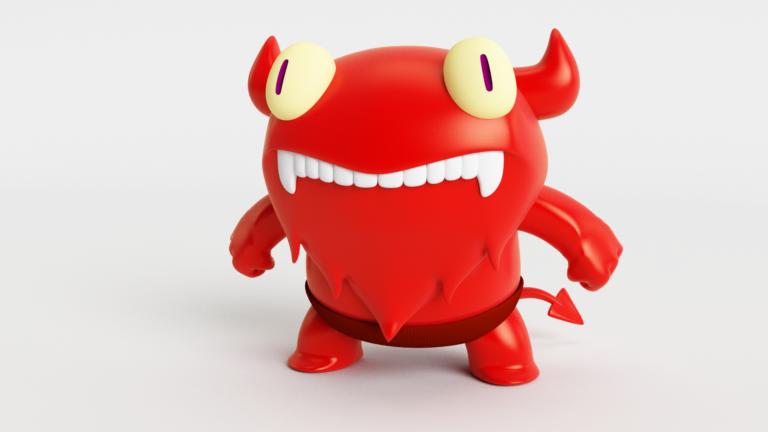 Demonio_3D_VRay_Rojo_2