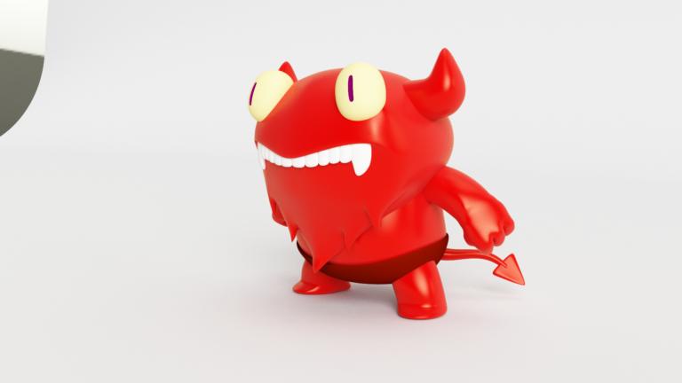 Demonio_3D_VRay_Rojo_4